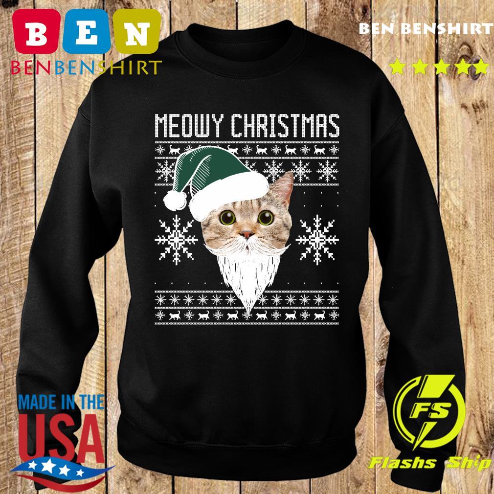 Meowy Christmas Santa Ugly Christmas Sweatshirt