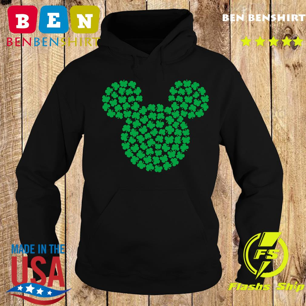 Mickey Mouse Green Four Leaf Clover Shamrock St. Patrick's Shirt Hoodie