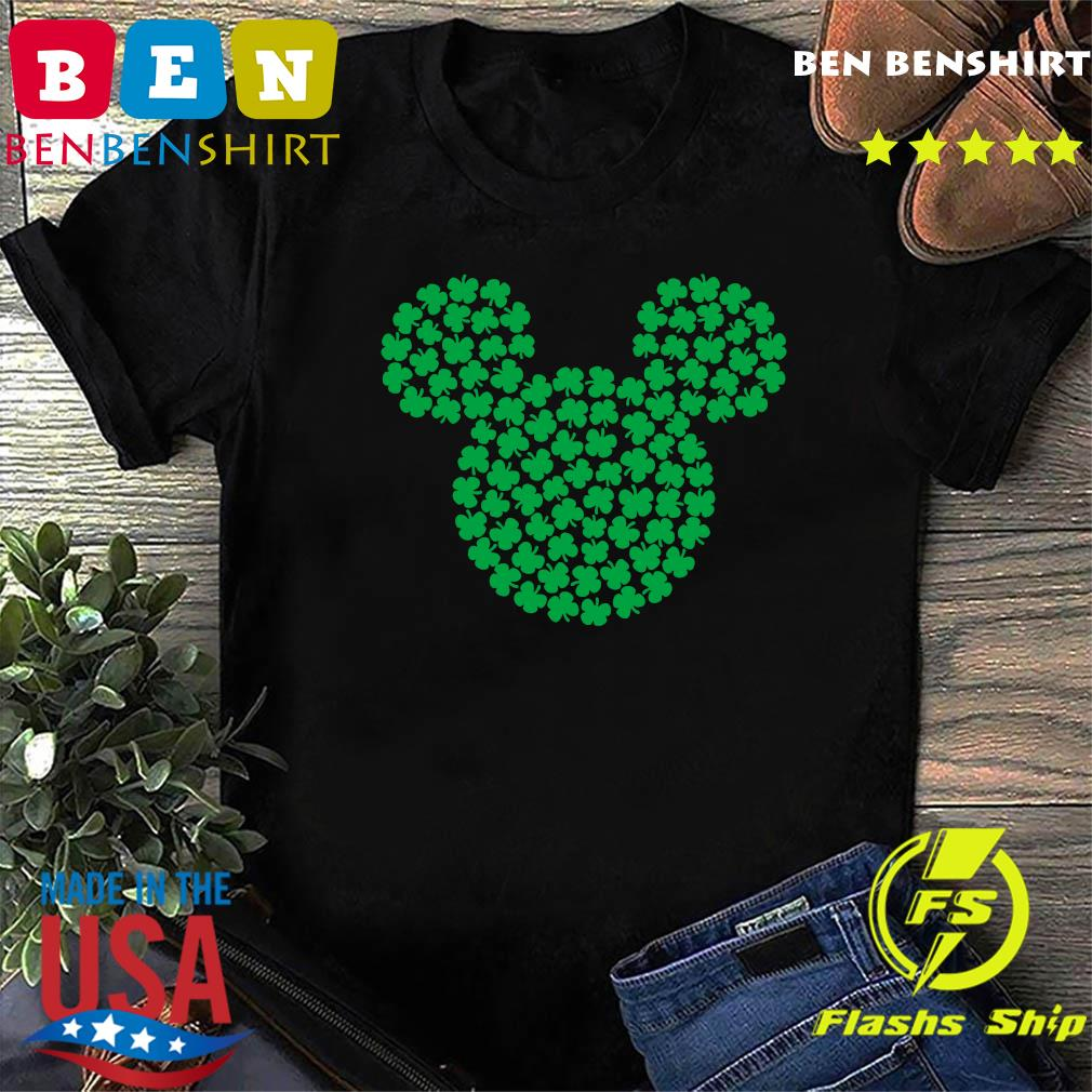 Mickey Mouse Green Four Leaf Clover Shamrock St. Patrick's Shirt