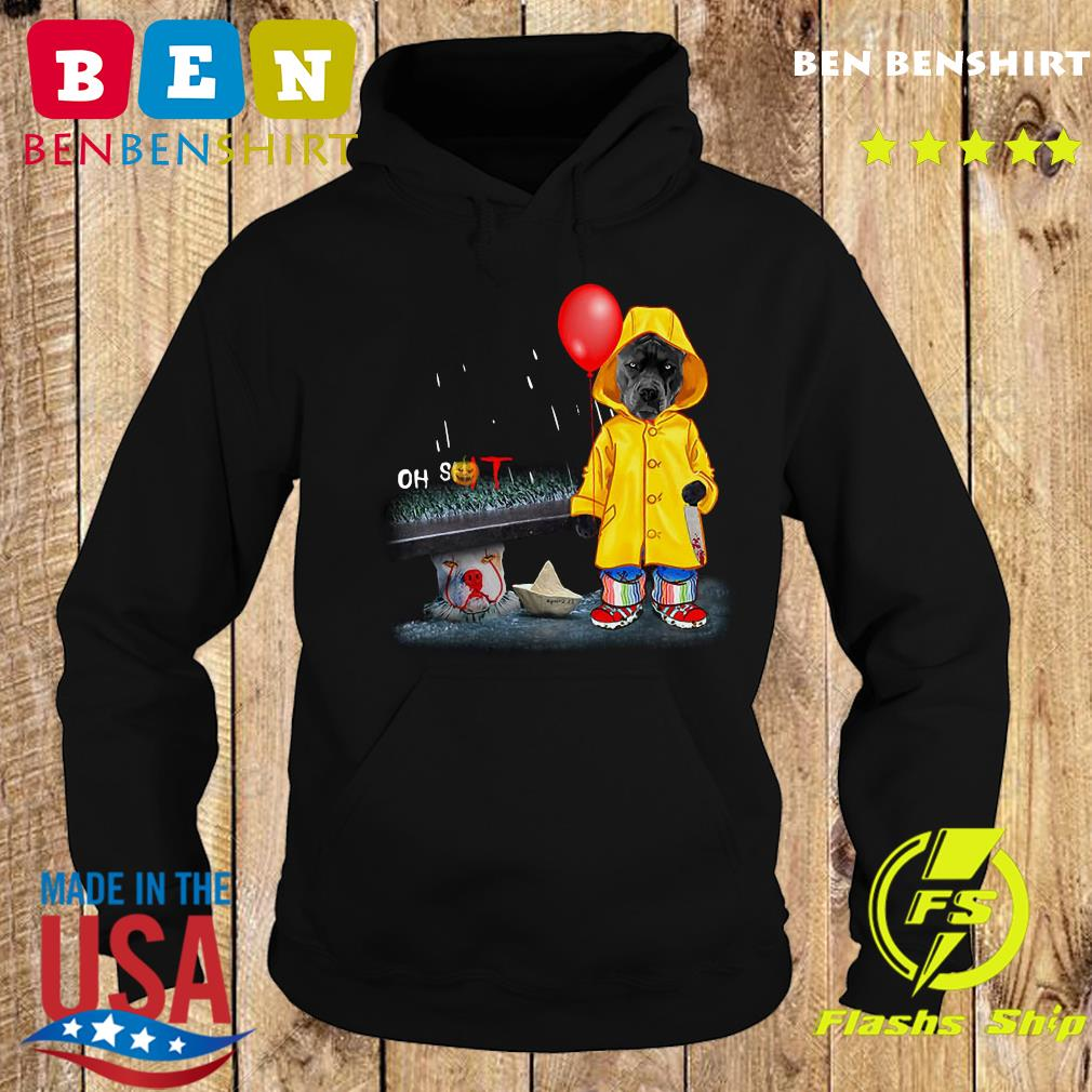 Oh Shit Pitbull And Pennywise IT Shirt Hoodie