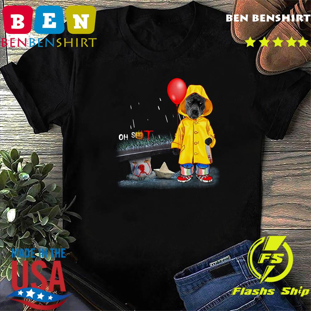 Oh Shit Pitbull And Pennywise IT Shirt