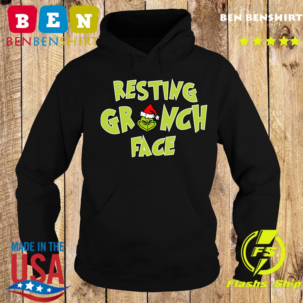 The Grinch Santa Resting Grinch Face Sweats Hoodie