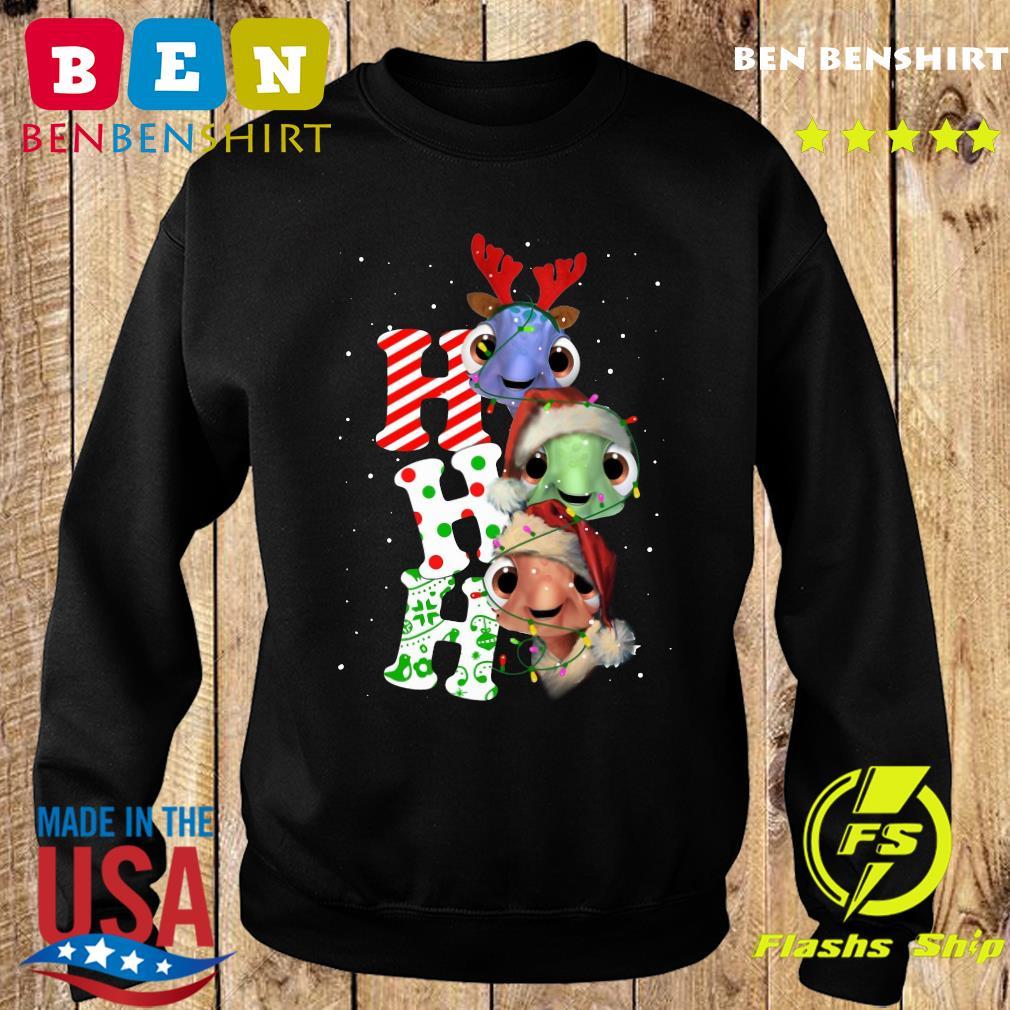 Turtles Santa Ho Ho Ho Light Christmas Sweatshirt