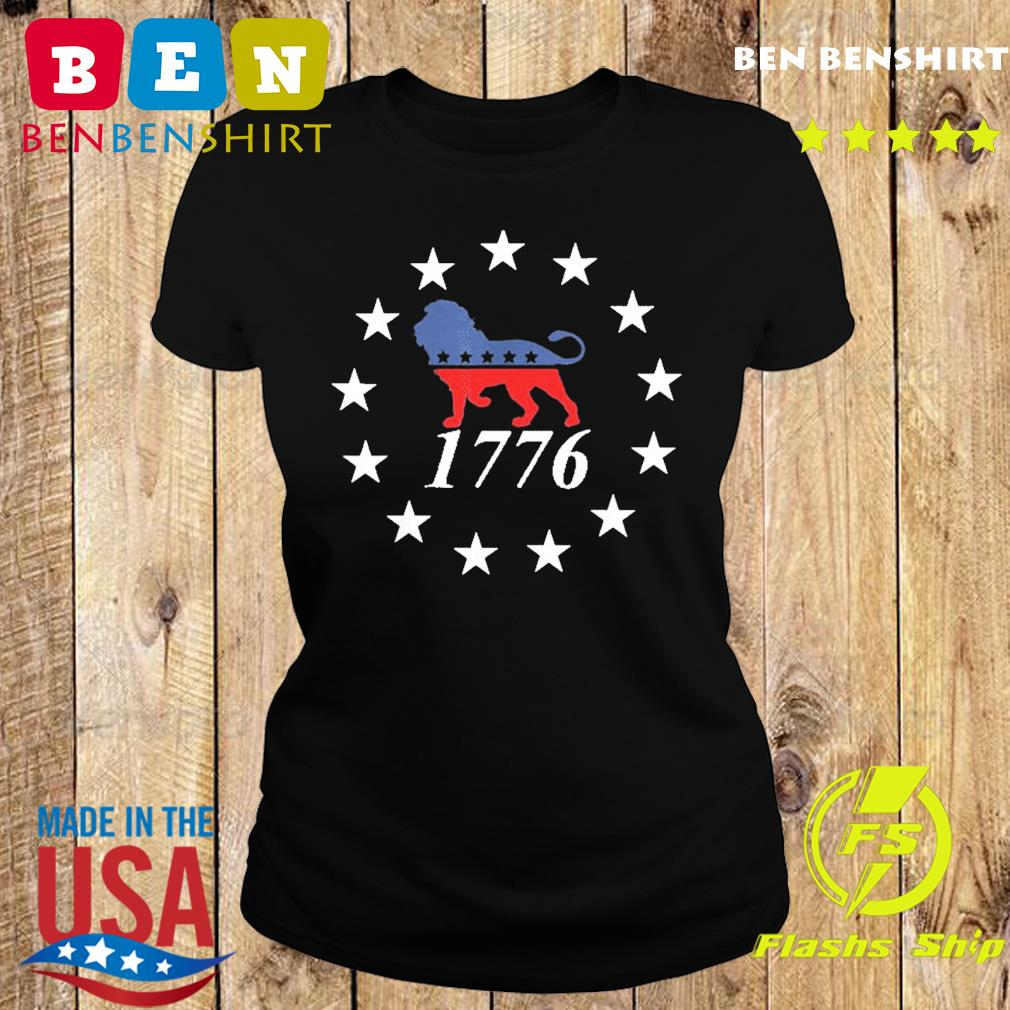 Patriot Party Lion Shirt Conservative Patriotic 4th of July T-Shirt Ladies tee