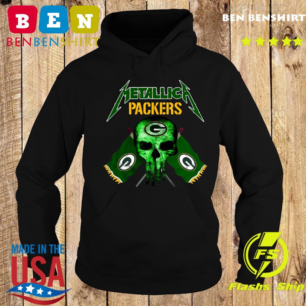 Skull Metallica Green Bay Packers Shirt Hoodie