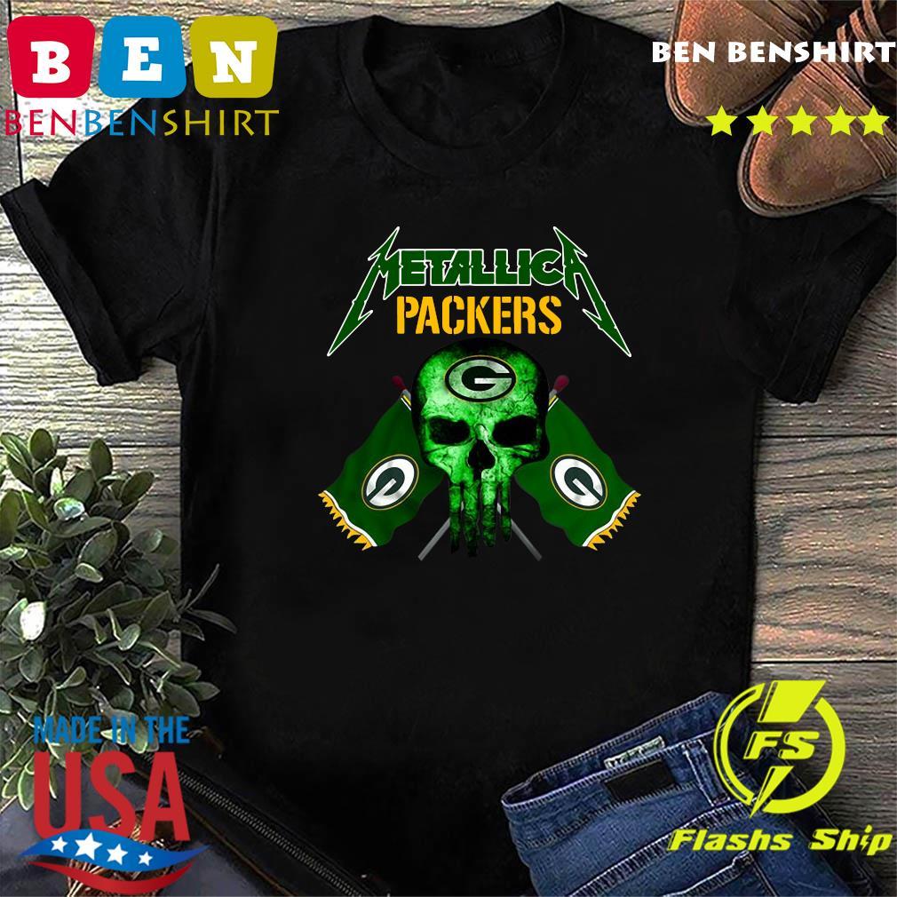 Skull Metallica Green Bay Packers Shirt
